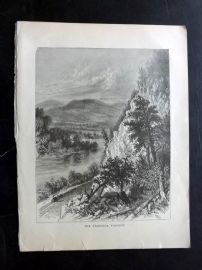 Voyages and Travels 1887 Antique Print. The Starrucca Viaduct, Pennsylvania, USA